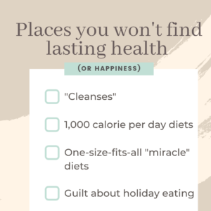 A note on January dieting