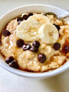 Peanut Butter Banana Quinoa Porridge