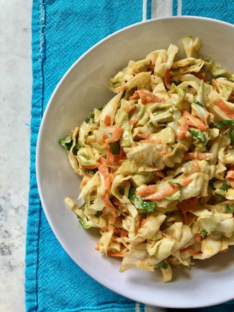 dairy-free cabbage slaw