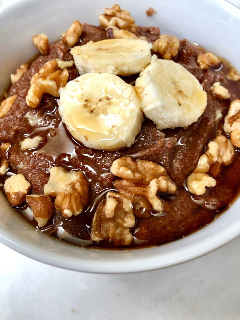 Easy banana teff porridge
